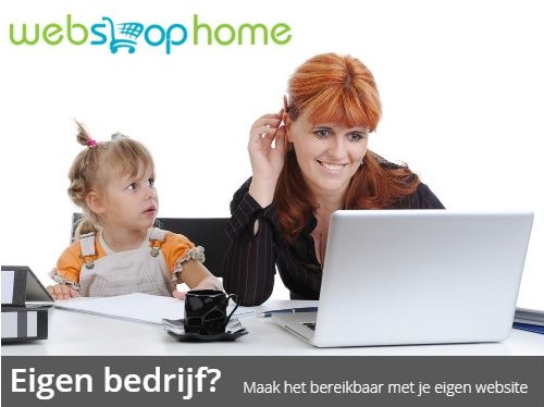 Webshophome voor website en hosting